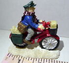 Lemax Christmas Village Newspaper Delivery Boy on Bicycle