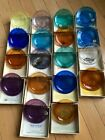 New Bedford Glass Pairpoint Cup Plates Lot of 18 Fairhaven Hawaii Worcester