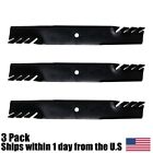 3PK Mulching Toothed Mower Blades for Scag 483318 A48304 A48111 481708