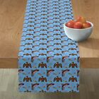 Table Runner Native American Northwest Whale Fish Eagle Indian Cotton Sateen