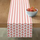 Table Runner Teepee Coral Tribal Aztec Native American Indian Cotton Sateen