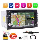 Backup CameraGPS Double 2Din Car Stereo Radio CD DVD Player Bluetooth + US Map