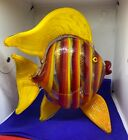 Vintage Mad Art Studios Dichroic Glass Fish Sculpture Hand Blown 2001 Signed