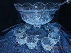 Punch Bowl Heisey 12 Piece Crystal