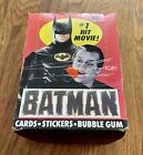 Batman Series 1 1989 Topps Cards, Vintage Complete Box of 36 Sealed Packs.