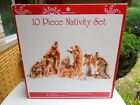 Members Mark 10 Piece Nativity Set 13 Tall Hand Painted In Box