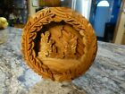 Carved Olive Wood Nativity 4 1 2 Inches Bethlehem with Sticker