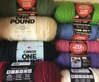Huge Lot 9 Skeins Red Heart Super Saver Caron Pound Worsted Acrylic Solid Colors
