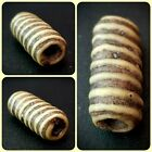 Large Roman Tubular Shaped Spiral Glass Centre Bead Yellow  Red 100 300 AD