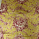VTG 2 YARDS Waverly Home Decor Fabric La Petite Ferme Red Toile w Rooster NEW