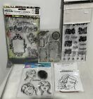 COLLAGE Dylusions Dina Wakley Mixed Media Tags Holiday Months Rubber Stamps Lot