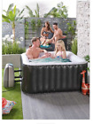 2 4 person Square black inflatable spa Black BOX OPENED AND TESTED