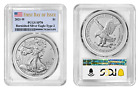 2021 W 1 Burnished Silver Eagle Type 2 PCGS SP70 First Day of Issue Flag Label
