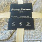 Tommy Bahama Queen Quilt Tiki Bay Blues Green Gray Tan Cotton Stripe Paisley NEW