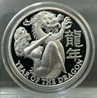 ADULT Year of The Dragon 1oz 999 Fine Silver Round