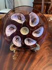Rare Moser Glass Oyster Plate Dish