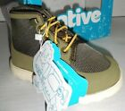 NEW Native Fitzroy Boys Water Resistant Lace Boots Utility Green Toddler 7 C7
