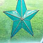 Beveled Stained Glass Star 12 inches Blue Beautiful SUNCATCHER Star of David