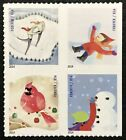 2014 4941 44 Forever WINTER FUN Block of 4 Booklet Stamps Mint NH