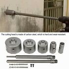 9 Piece Set Of Carbon Steel With Handle Concrete Hole Saw Cement Cutting Tool