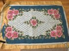 Antique Hand Hooked Wool Rug 95 Complete Beautiful