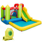 Inflatable Bounce House Water Slide Bouncer Pool w Climbing Wall  480W Blower