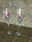 Milano Romanian Stained Glass Mosaic Champagne Flute Wine Glass 11 1 4 2