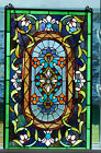 VINTAGE STAINED GLASS PANEL GORGEOUS MUST SEE
