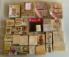 Big Lot of Wood Mounted Rubber Stamps Tiny Dot Letters DJ Inkers Dots Super Set