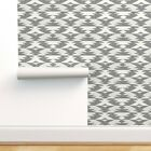 Removable Water Activated Wallpaper Aztec Geometric White Native Natural Geo