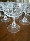 7 Crystal champagne or sherbert glasses 475 inches tall