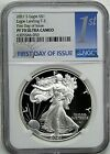 2021 S 1 Proof Silver Eagle Type 2 NGC PF70 Ultra Cameo First Day of Issue