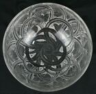 Signed LALIQUE France Crystal PINSONS Finches Bird Bowl