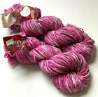 Lot 2 Absolutely Fabulous COLINETTE GIOTTO Hand Dyed Painted Tape Yarn Alizarine