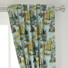 Paint Watercolor Woodland Nursery Number 50 Wide Curtain Panel by Roostery