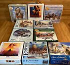 Lot 10 Native American Puzzles By CEACO Bits And Pieces 300 500 550  1000 Pc