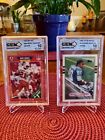 [2] CARD LOT! 1989 Barry Sanders GEM MINT 10 Topps Traded + Pro Set Rookie Cards