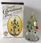 Art Glass Christmas Tree With 12 Handcrafted Ornaments 6 Tall LS Arts