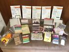 SCRAPBOOK LOT Paper Stamps Sets Flowers Ribbon Punch Die Cuts TagsGUC
