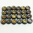5x Random Alloy Wheels For Hot Wheels Real Riders 1 64 Scale USA Seller