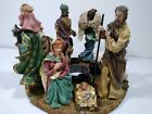 Christmas Nativity Advent candle holder 3D wreath round Jesus Mary Holy10