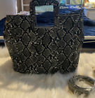 Large Urban Expressions Faux Snakeskin Large Tote with Shoulder Strap