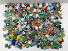 BULK JOB LOT OF OLD VINTAGE GLASS MARBLES LARGE AND SMALL A NICE COLLECTION