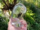 VTGE Mid cent Steuben Glass Crystal Owl By Donald Pollard Figurine Paperweight