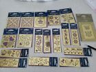 New Brass Stencil Set of 17 New in package from Plaid 1 double+ Emboss tool