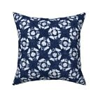 Faded Broken Shibori Native Throw Pillow Cover w Optional Insert by Roostery