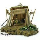 Fontanini Heirloom Nativity The Kings Tent Large Blue Striped Canvas 50153