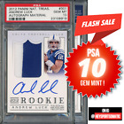 2012 National Treasures RPA 99 Andrew Luck RC Rookie Patch AUTO PSA 10 GEM MINT