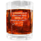 Jack Dempsey Famous Quote Italian Crystal Whiskey Glass