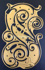 Anna Griffin DIE ONLY Flourish Scroll Background Cut Emboss Metal Used Rare